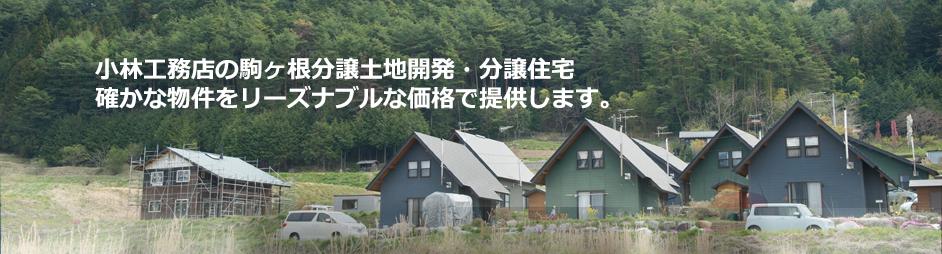 小林工務店の駒ヶ根分譲土地開発・分譲住宅確かな物件をリーズナブルな価格で提供します。